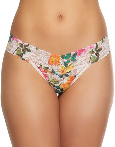 Hanky Panky Melissa Low-Rise Lace Thong-MULTI-One Size