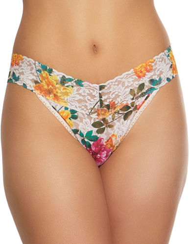 Hanky Panky Melissa Original Rise Lace Thong-MULTI-One Size