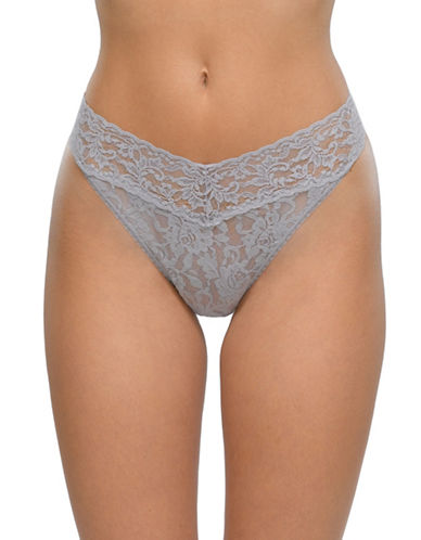Hanky Panky Signature Lace Thong-STEEL-One Size