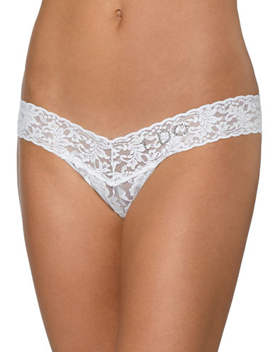 Hanky Panky Low Rise I DO Thong-WHITE-One Size