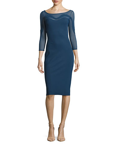 La Petite Robe Di Chiara Boni Psylocke Illusion Bodycon Dress-BLUE-4 plus size,  plus size fashion plus size appare