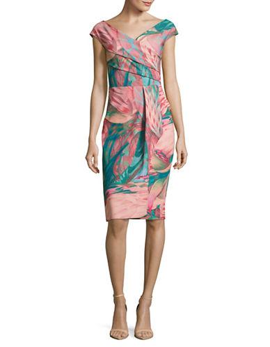 La Petite Robe Di Chiara Boni Print Surplice Sheath Dress-MULTI-10