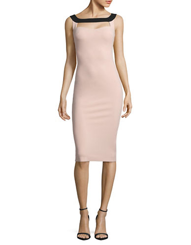 La Petite Robe Di Chiara Boni Cut-Out Sheath Dress-PINK-6