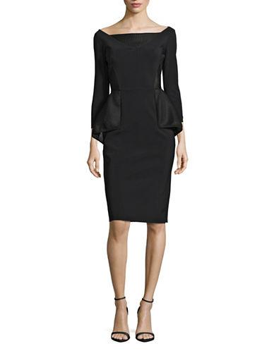 La Petite Robe Di Chiara Boni Mesh Peplum Dress-BLACK-8