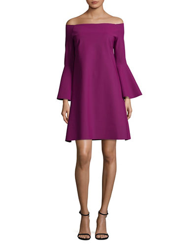 La Petite Robe Di Chiara Boni Off-The-Shoulder Dress-VINO-12