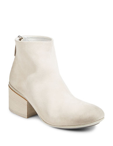 Marsell Round Toe Leather Booties-OFF WHITE-EUR 37/US 7