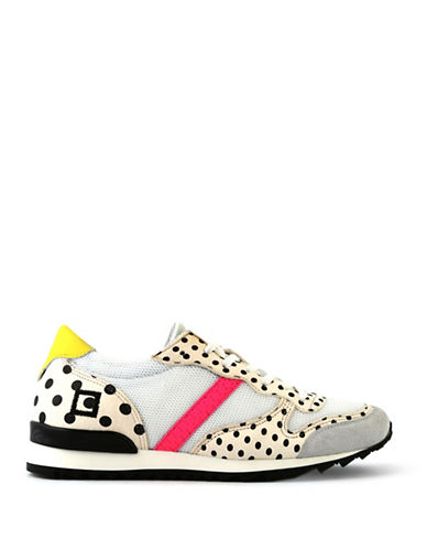 Date Womens Boston Pop Pois Leather Sneakers-WHITE MULTI-EUR 37/US 7