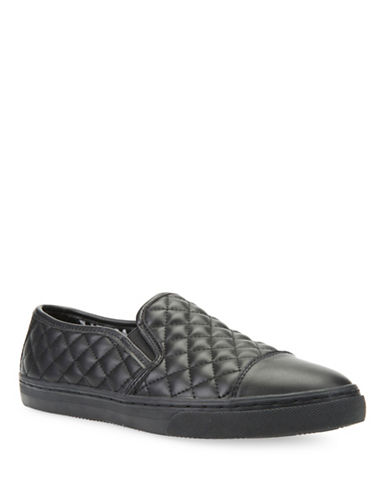 Geox Club Quilted Slip-On Shoes-BLACK-EUR 38/US 8