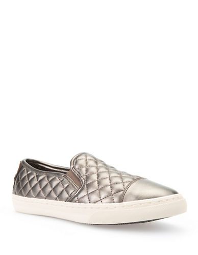 Geox Club Quilted Slip-On Shoes-DOVE GREY-EUR 39/US 9