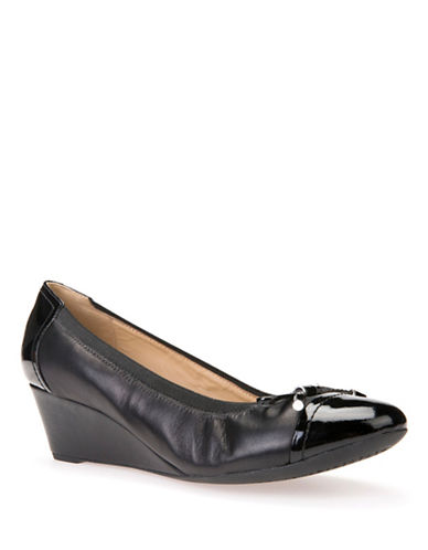 Geox Floralie Wedge Pumps-BLACK-EUR 38/US 8