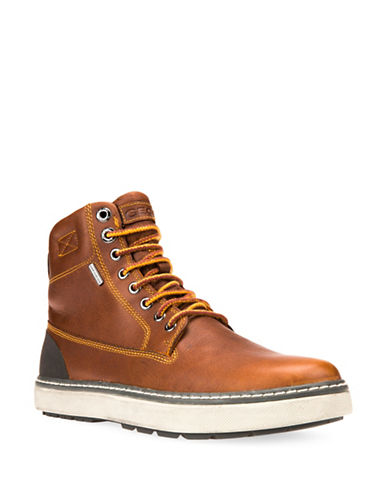 Geox Mattias Respira ABX Leather Winter Boots-BROWN-EU 42/US 9