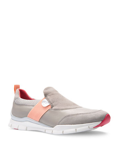 Geox Sukie Leather Slip-On Sport Sneakers-GREY-EUR 38/US 8