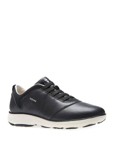 Geox Nebula Leather Sneakers-BLACK-EUR 39/US 9