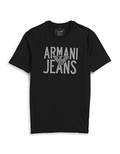 Armani Jeans Jersey Eagle Logo T-Shirt-BLACK-XX-Large 88458061_BLACK_XX-Large