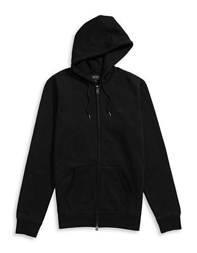 Armani Jeans Fleece Hoodie-BLACK-X-Large 88457912_BLACK_X-Large