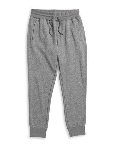 Armani Jeans Fleece Cuffed Sweatpants-GREY-Large 88457966_GREY_Large