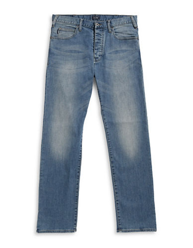 Armani Jeans Regular Fit Button-Fly Jeans-INDIGO-29X32