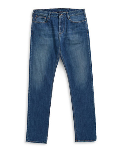 Armani Jeans Stretch Slim Jeans-BLUE-36