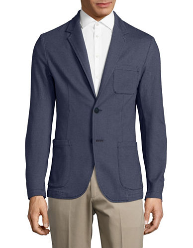 Armani Jeans Mini Jacquard Sports Jacket-BLUE-X-Large