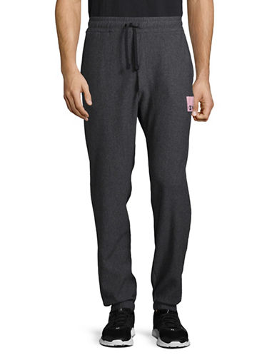 Wood Wood X Champion Wood Wood Patch Sweatpants-BLACK-Large
