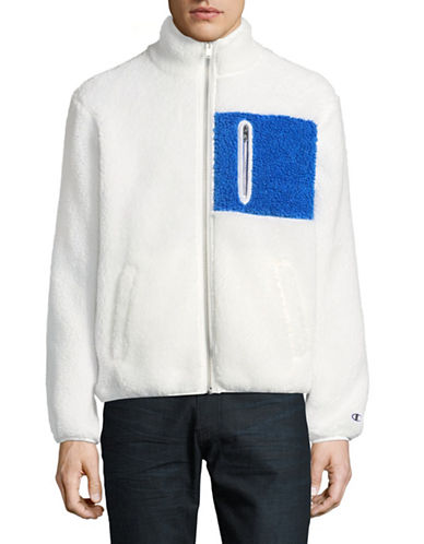 Wood Wood X Champion Opal Teddy Fleece Jacket-WHITE-Small 89408609_WHITE_Small