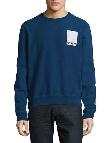 Wood Wood X Champion One Patch Pullover-NAVY-Medium