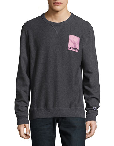 Wood Wood X Champion One Patch Pullover-BLACK-Small 89408619_BLACK_Small
