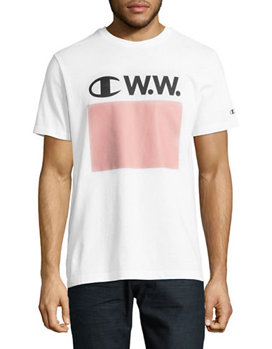 Wood Wood X Champion Wood Wood Logo T-Shirt-WHITE-Large 89408630_WHITE_Large
