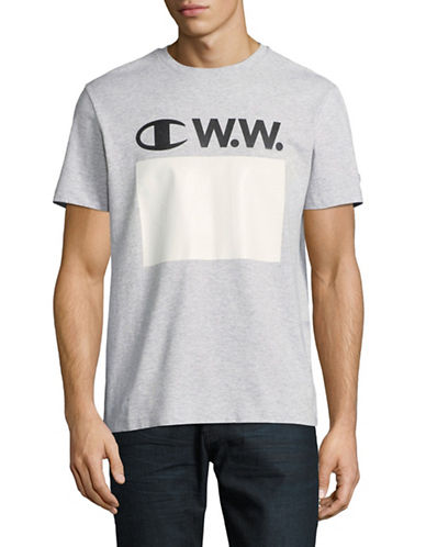 Wood Wood X Champion Wood Wood Logo T-Shirt-GREY-Small