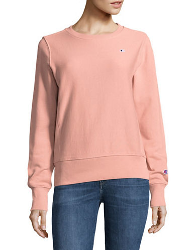 Champion Reverse Weave Crew Neck Sweater-PINK-Large