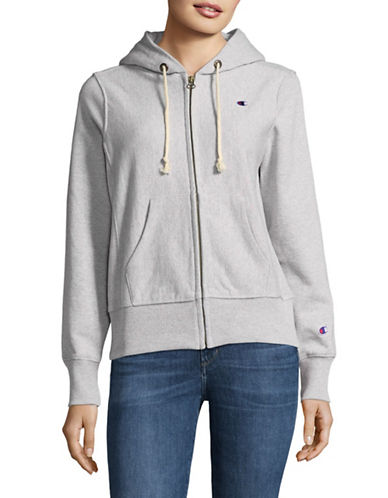 Champion Reverse Weave Reverse Weave Hoodie-GREY-Small