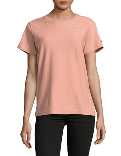 Champion Reverse Weave Cotton Short Sleeve Tee-PINK-Medium