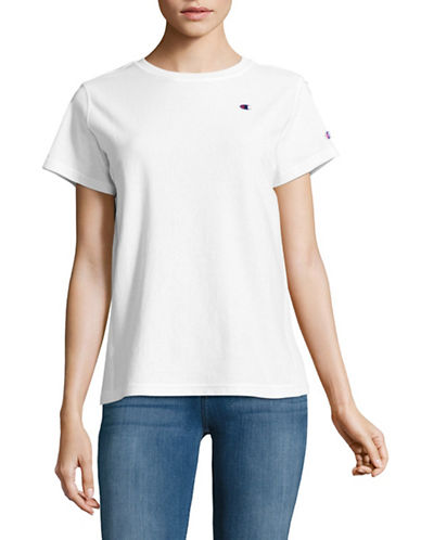 Champion Reverse Weave Cotton Short Sleeve Tee-WHITE-Large 89376290_WHITE_Large