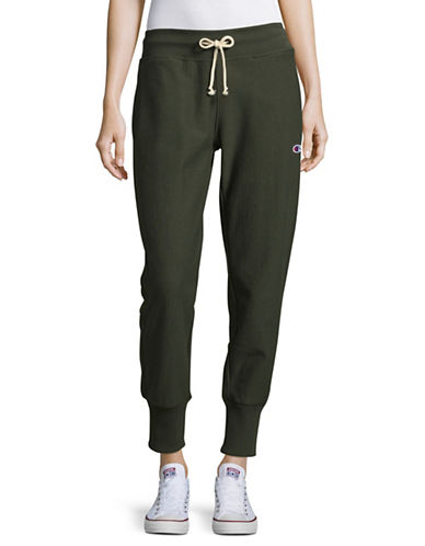 Champion Reverse Weave Tapered Joggers-GREEN-Small