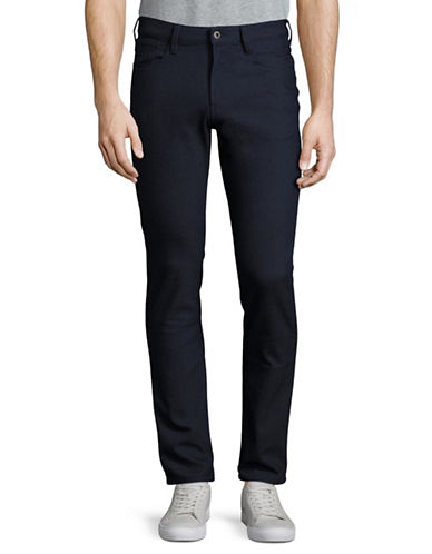 Armani Jeans Slim-Fit Dot Pants-BLUE-32
