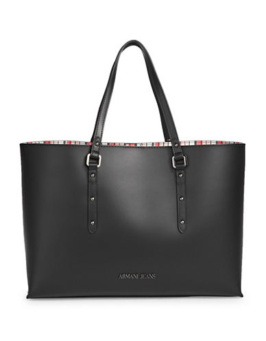 Armani Jeans Castiglia Vacchetta Tote-BLACK-One Size 89064854_BLACK_One Size