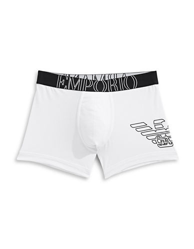 Emporio Armani Underwear Big Eagle Stretch Boxers-WHITE-Medium