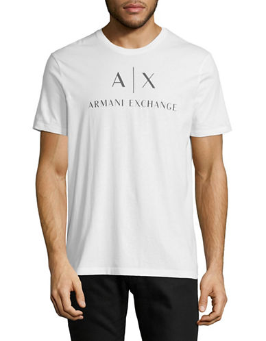 Armani Exchange Classic Logo T-Shirt-WHITE-X-Large
