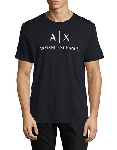 Armani Exchange Classic Logo T-Shirt-NAVY-Large