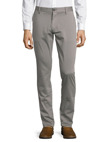 Armani Jeans Cotton Sateen Pants-GREY-38