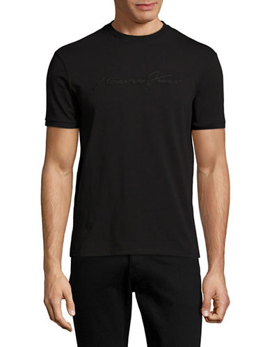 Armani Jeans Monochrome Stretch T-Shirt-BLACK-X-Small 88884455_BLACK_X-Small