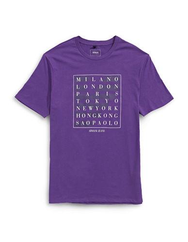 Armani Jeans Destination Logo T-Shirt-PURPLE-X-Large
