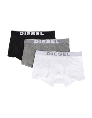 Diesel Kory Boxer Shorts Set of Three-GREY-X-Large