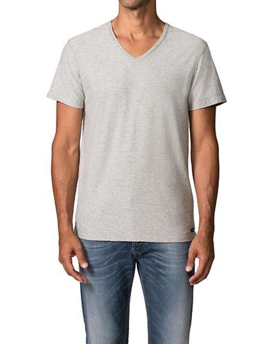 Diesel Slub V-Neck T-Shirt-WHITE-X-Small 87339625_WHITE_X-Small