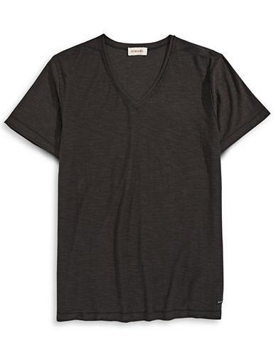 Diesel Slub V-Neck T-Shirt-BLACK-Small 86913909_BLACK_Small