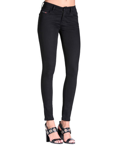Diesel Slandy Super Skinny Jeans-BLACK-27