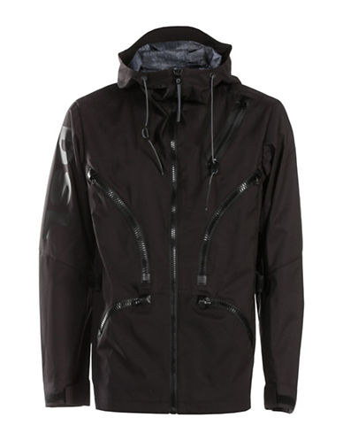 Diesel Mo-J-Ty Windbreaker Jacket-BLACK-Large