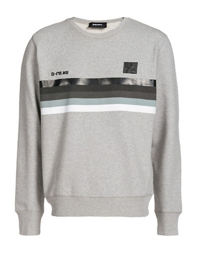 Diesel Joe Heathered Sweatshirt-GREY-Medium 89052907_GREY_Medium