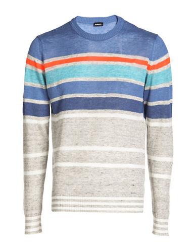 Diesel K-Colonial Linen-Blend Sweater-GREY-Large 89048163_GREY_Large