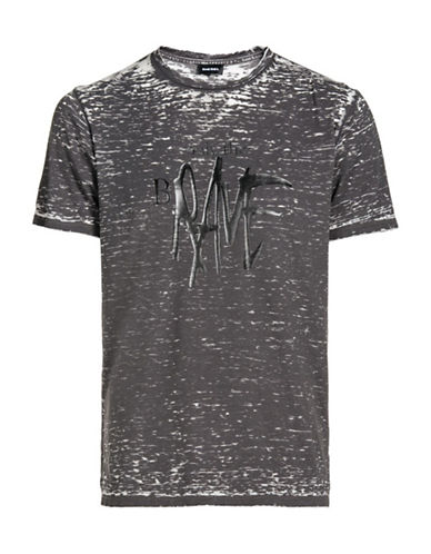 Diesel Joe Burn Wash Tee-GREY-Large